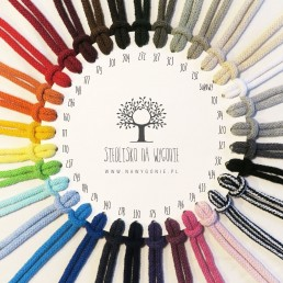 wzornik kolorów sznurka