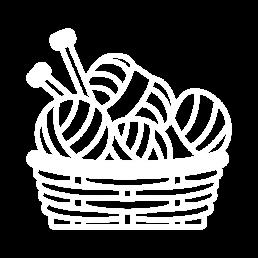 koszyk dziergany na szydełku ze sznurka