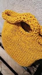 torba ręcznie dziergana z eco-jerseyu