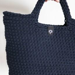 torba ze sznurka ręcznie dziergana na szydełku
