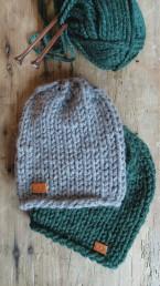 czapka ręcznie dziergana