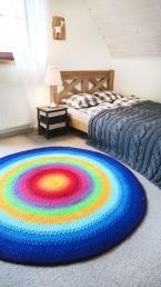 okrągły dywan ze sznurka
