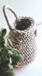 koszyk ze sznurka rękodzeło Siedliska na Wygonie